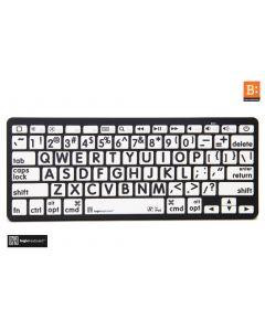 LargePrint Black on White - Bluetooth Mini Keyboard