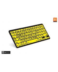 LargePrint Black on Yellow - Bluetooth Mini Keyboard