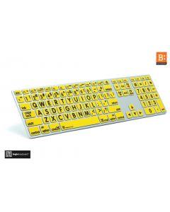 LargePrint Black on Yellow - Mac Advance Line Keyboard