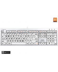 LargePrint Black on White - Mac ALBA Keyboard