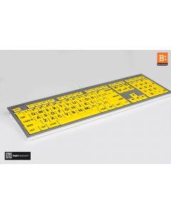 LargePrint Black on Yellow - Mac ALBA Keyboard