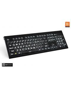 LargePrint White on Black - PC ASTRA Backlit Keyboard