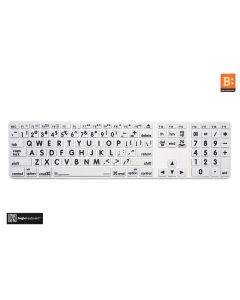 LargePrint Black on White - Before 2017 Wired Keyboard Cover