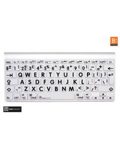 LargePrint Black on White - Before 2016 MacBook Pro Keyboard Cover