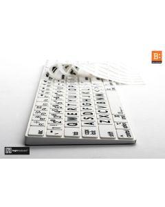 LargePrint Black on White - Magic Numeric Keyboard Cover