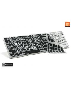 LargePrint White on Black - Before 2017 Wired Keyboard Cover