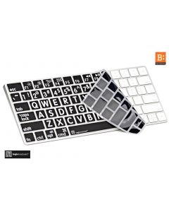 LargePrint White on Black - Magic Keyboard Cover